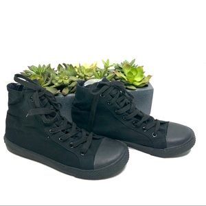 Airwalk Black High Top Sneakers Size 8 1/2